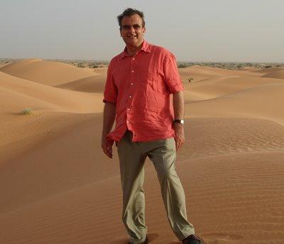 Peter Slow dans le désert