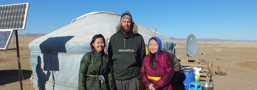 Nos volontaires sont logés dans des yourtes en Mongolie