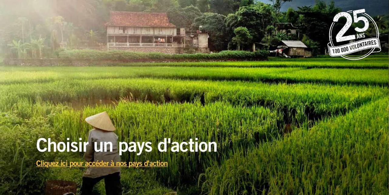 Pays d'action