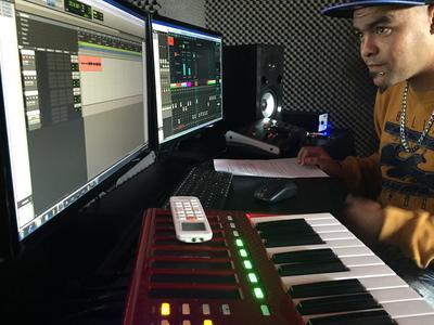 Studio de production musicale au Cap en Afrique du Sud