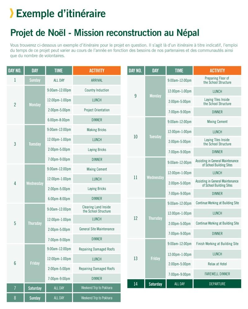 Projet de reconstruction au Népal