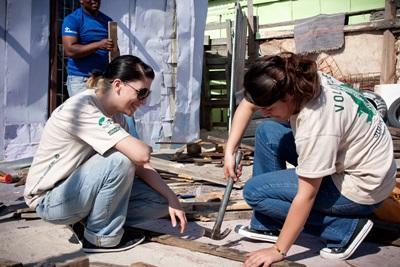 Chantier rénovation jeunes Afrique du sud