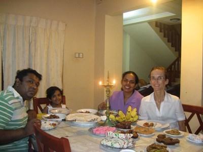 Cours de cinghalais au Sri Lanka
