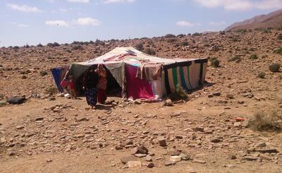 Une maison de famille d'accueil sur le projet nomade au Maroc