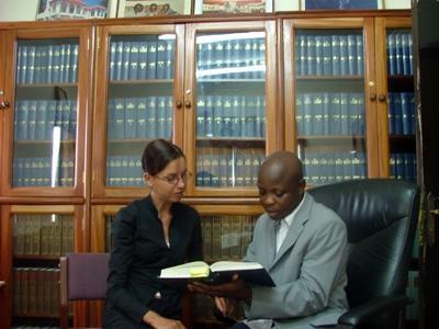 Volontaire en mission droit au Ghana sur des travaux de recherche juridique