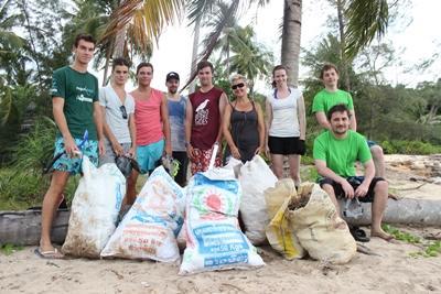 Collecte de déchets au Cambodge