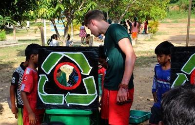 Un atelier de sensibilisation au recyclage