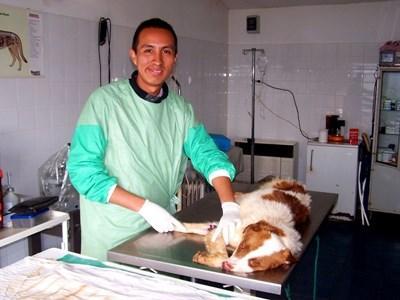 Volontaire en salle d'opération