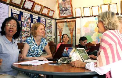 Bénéficiaires du projet microfinance au Cambodge