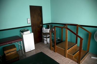 Salle d'exercices en mission kinésithérapie au Costa Rica