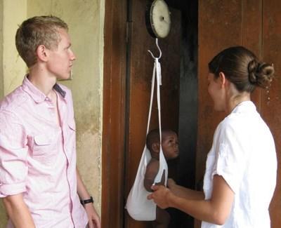 Stagiaire en maternité au Ghana
