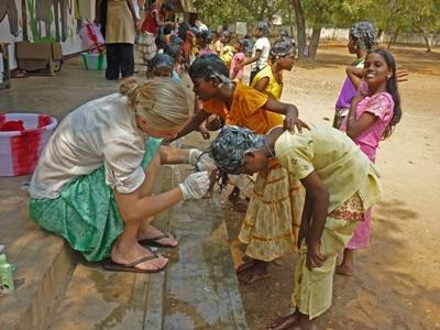Campagne de sensibilisation médicale en Inde