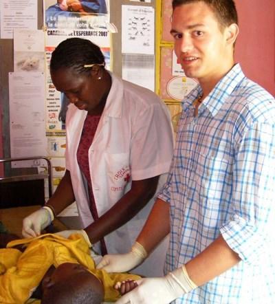 Stagiaire infirmier au Sénégal