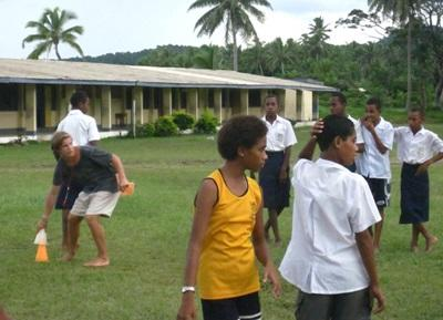 Volontaire en sport aux Fidji