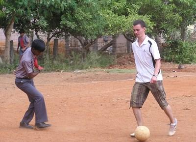 Volunteer Abroad in India Coaching Soccer