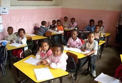 Classroom placement for professional teaching volunteers in Ethiopia