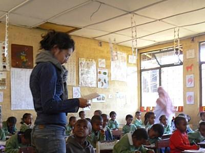 Action humanitaire enseignement Ethiopie