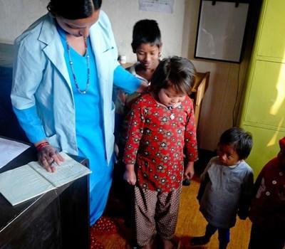 Infirmière volontaire au Népal