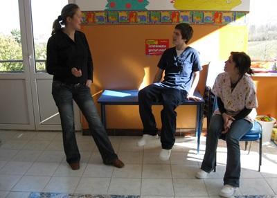 Massothérapie auprès d'enfants en Roumanie