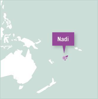 Carte des missions de volontariat aux Iles Fidji