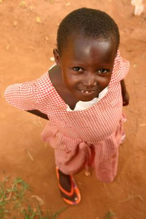 Girl at Outreach Project Kwamoso School at Akuapem Hills
