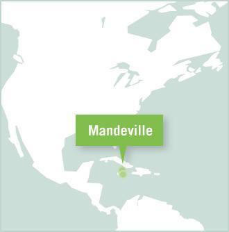 Carte des missions de volontariat en Jamaïque