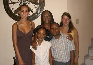 Host family in Jamaica