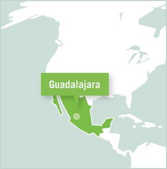 Carte des missions de volontariat au Mexique