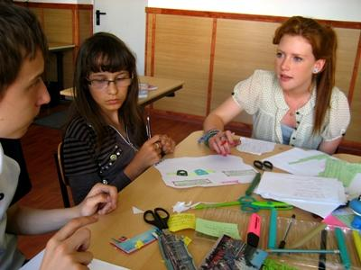 Volunteer with special needs children in Eastern Europe