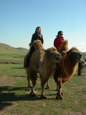 Volunteers travelling in Mongolia