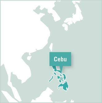 Carte des missions de volontariat au Philippines
