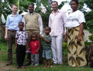 Host family in the Tanzania