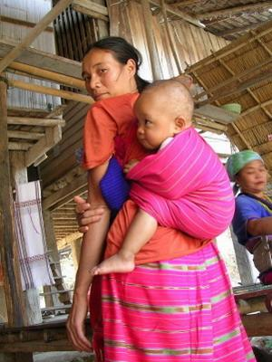 Thai woman with baby